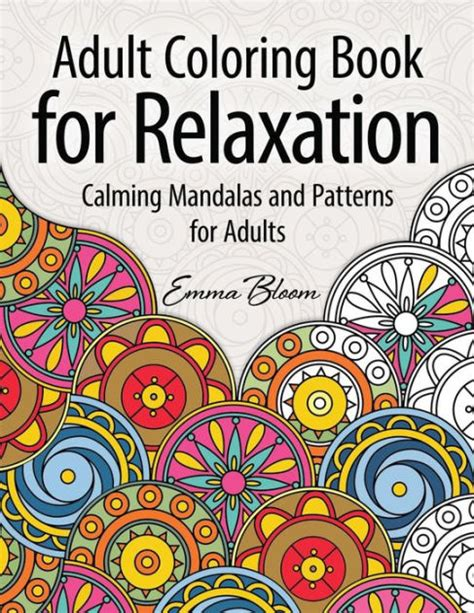 coloring book for adults barnes and noble coloring book for relaxation calming mandalas and