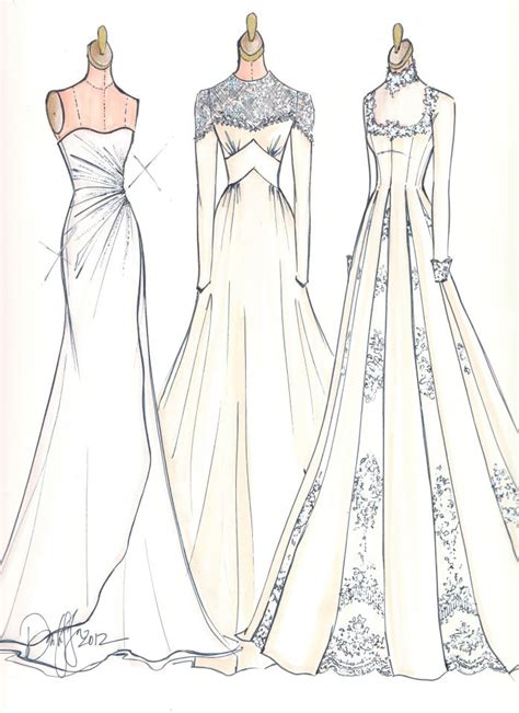 fashion illustration gown image courtesy of illustrative moments sketches brides