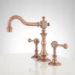 vintage widespread bathroom faucet lever handles