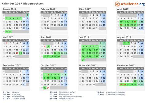 Schulferien Org Kalender 2018 Kalender 2017 2018 2019 Niedersachsen