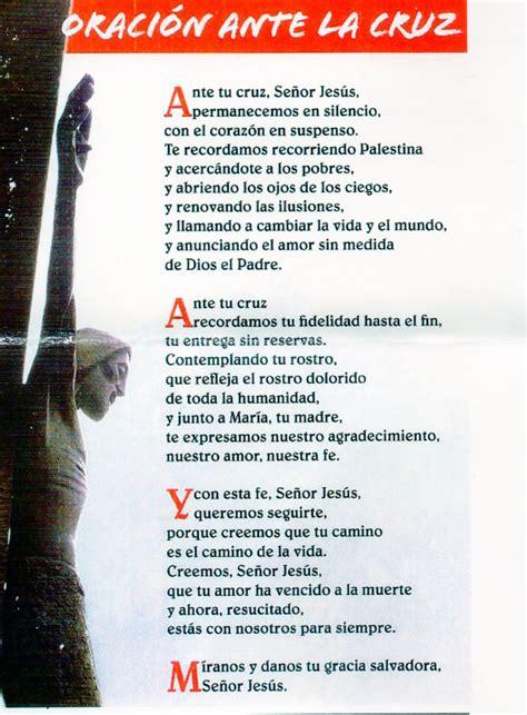 la oracion de santa cruz amarajesus oracion ante la cruz