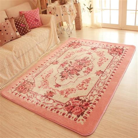 Bedroom Rugs And Carpets 150x200cm Big Carpets For Living Room Pink Flower Bedroom