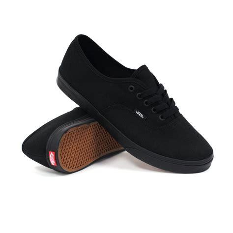black vans shoes vans authentic lo pro black black s shoes