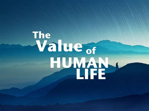 the value of human