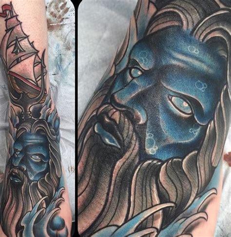 poseidon trident tattoo 30 poseidon designs for god of the sea