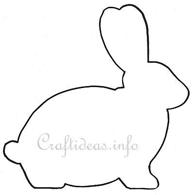 rabbit pattern drawing easter template easter bunny shape for a wooden easter