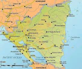 Nicaragua World Map by Maps Of Nicaragua
