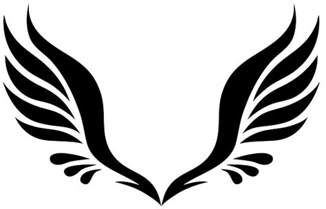 tribal angel wings tattoo designs simple tribal wings clipart best graphic
