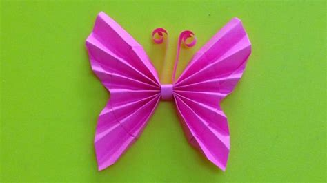 Paper Butterfly Craft - how to make a paper butterfly easy origami butterflies