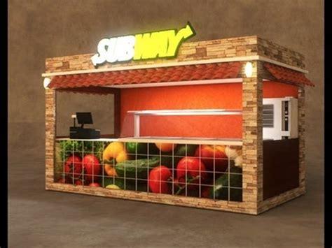 Fast Food Restaurant Floor Plan Outdoor Food Retail And Coffee Kiosks Design Cart King