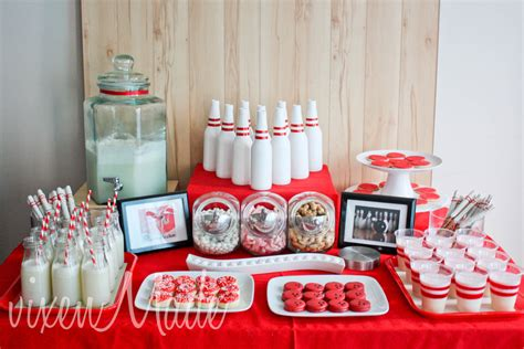 party decorating ideas red and white bowling party evite