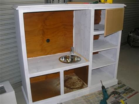 tv cabinet made into play kitchen diy play kitchen made from tv cabinet the idea king