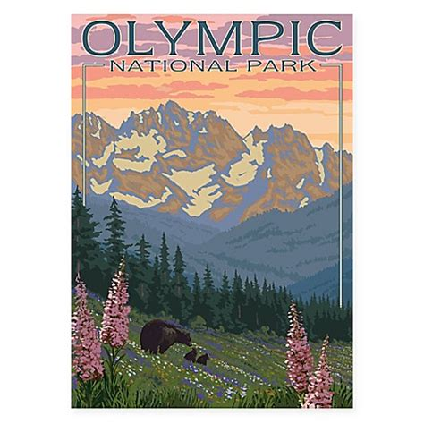 bed bath and beyond olympic quot olympic national park quot gicl 233 e canvas wall art bed bath