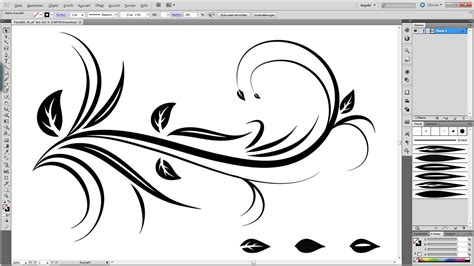 illustrator pattern brush corners tutorial swirl floral tutorial illustrator youtube