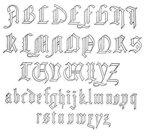 printable german alphabet old german alphabet clipart etc
