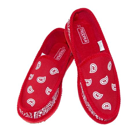 bandana on bandana print slip on slipper house shoe by trooper america slippers s