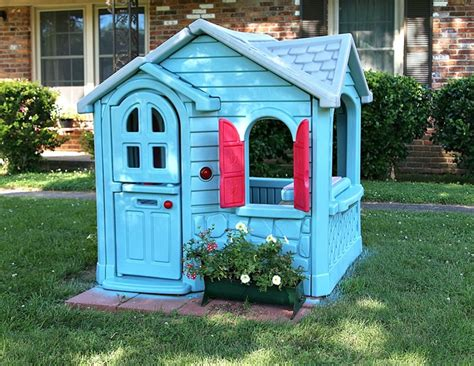 Tikes House by How To Paint A Tikes Playhouse With A Paint Sprayer