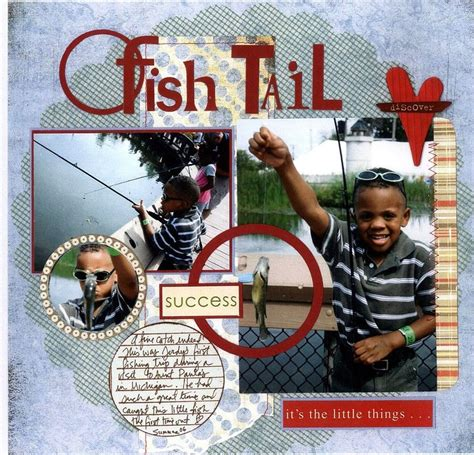 scrapbooking rubber sts fishing scrapbook ideas