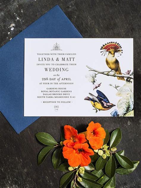 Bird Wedding Invitations Etsy botanical bird wedding invitation template by 3eggsdesign