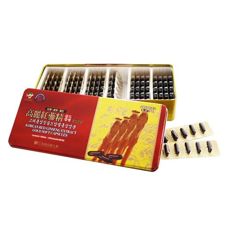 korean ginseng extract gold soft capsules youngs goods