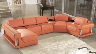 Modern Leather Corner Sofas Modern Leather Corner Sofas With Genuine Leather U Shape Included Big Ottoman In Living Room