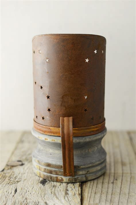 Candle Holder Base Candle Holder With Wood Base 7 75in