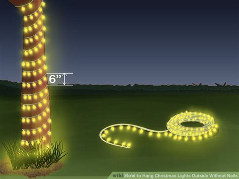 how to hang lights outside with outbusing nails 3 ways to hang lights outside without nails wikihow
