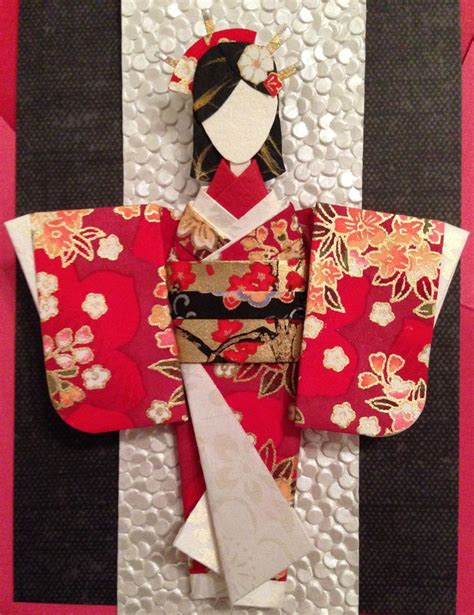 Origami Kimono Doll - origami japanese paper doll made using the below