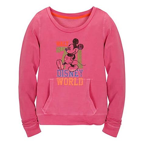 Sweater Mickey Pink your wdw store disney sweatshirt chromatic pink disney world mickey mouse
