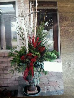 christmas decorating huge stone urns in front of entrance 1000 images about birch on the porch on birch branches birches and planters