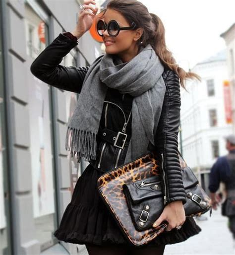 street style hair scarves choosing and styling a leather jacket for fall 2013