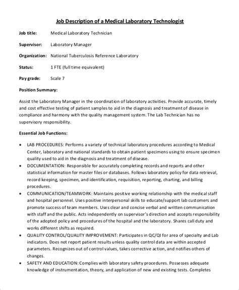 description resume template sle