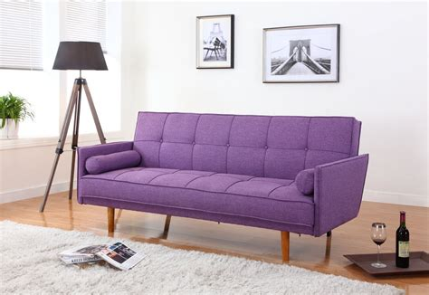 mid century convertible sofa item l33303 mid century convertible sofa bed futon purple