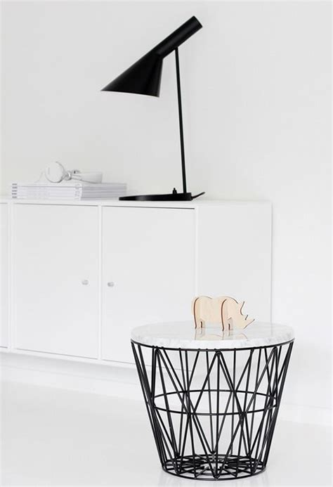 wire and wood basket side table ferm living wire basket turned into a side table to do