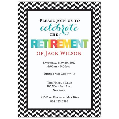 retirement luncheon invitation template modern colorful retirement invitations paperstyle