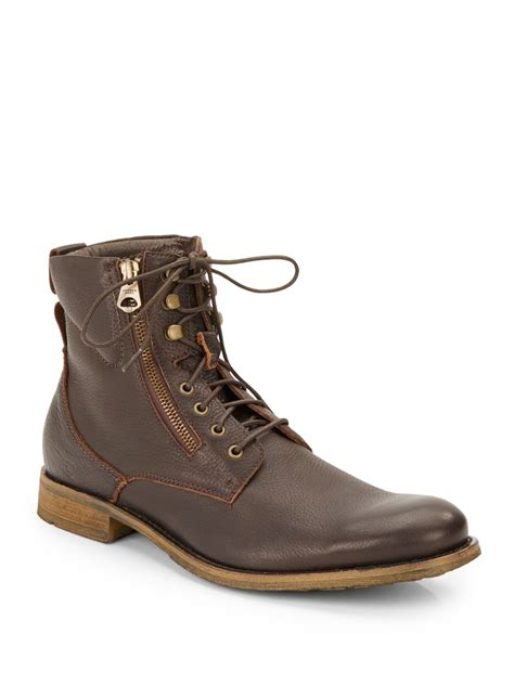 marc mens boots andrew marc cbell leather lace up boots in brown for