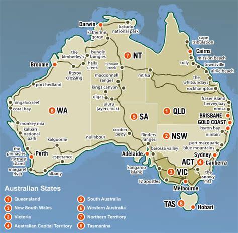 australia province map australia map and australia satellite images