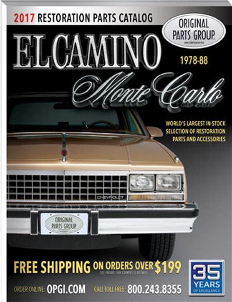 1978 malibu parts catalog free 1978 88 el camino monte carlo parts catalog opgi