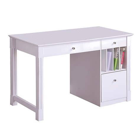 Office Desks With Storage Walker Edison Deluxe Home Office Writing Desk With Storage White Dw48d30wh