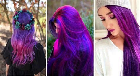 bagno di colore capelli viola duylinh for