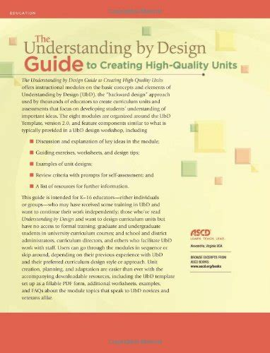 the understanding by design guide to creating high quality units reviews the understanding by design guide to creating
