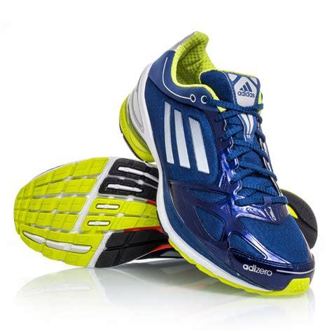 adizero mens running shoes adidas adizero f50 2 mens running shoes blue yellow