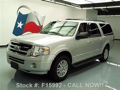 Expedition 6655 Silver Grey Leather find used 2011 ford expedition el xlt 8 passenger leather dvd 41k direct auto in stafford