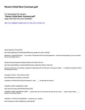 Rent Free Letter From Parents rent free letter from parents sle fill out