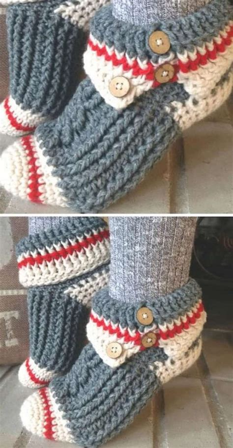 crochet monkey slippers crochet slippers best collection the whoot