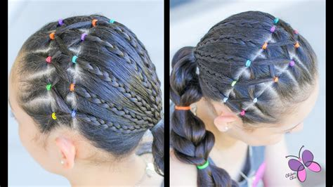 hairstyles with elastics hairstyle for girls with elastics and braids hairstyles