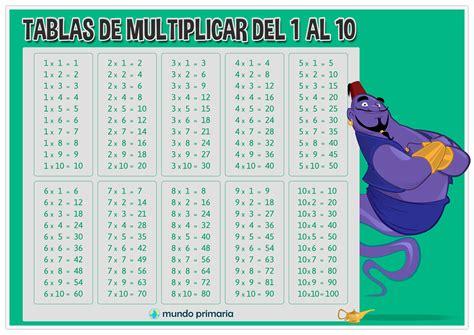 tablas de multiplicar del 1 al 10 matematicas juego aprender las tablas de multiplicar para ni 241 os de primaria