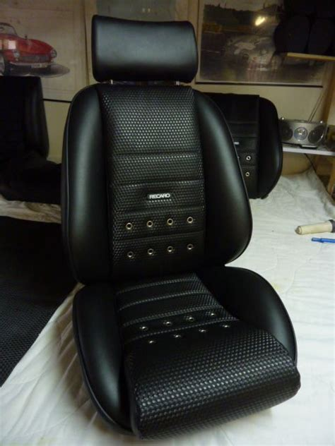 Classic Car Seat Upholstery by Monte Carlo Seat In A Custom Leatherette Basket Weave