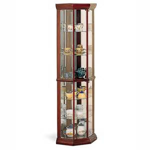 Curio Cabinet Lowes Shop Coaster Furniture Cherry Curio Cabinet At Lowes