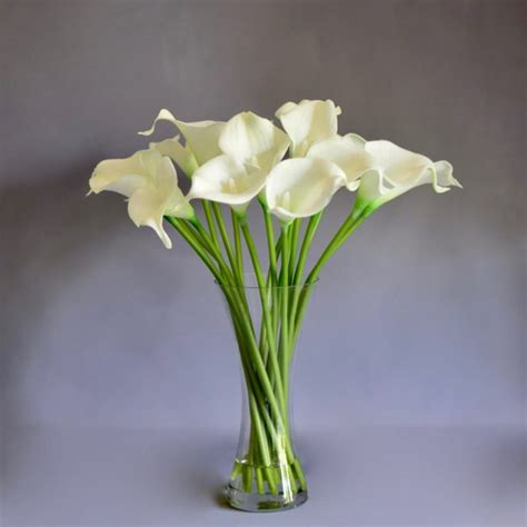 Artificial Lilies In Vase by Artificial Flowers Artificial Lilies In Glass Vase